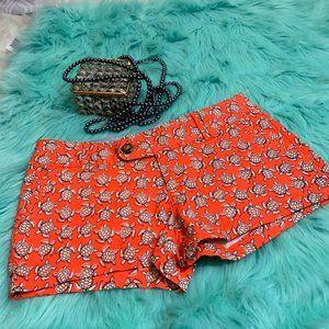 NWOT RED CAMEL SHORT Size 5 turtle patterns V2
